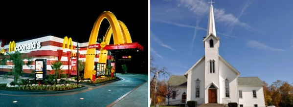 McDonald's® vs. the church