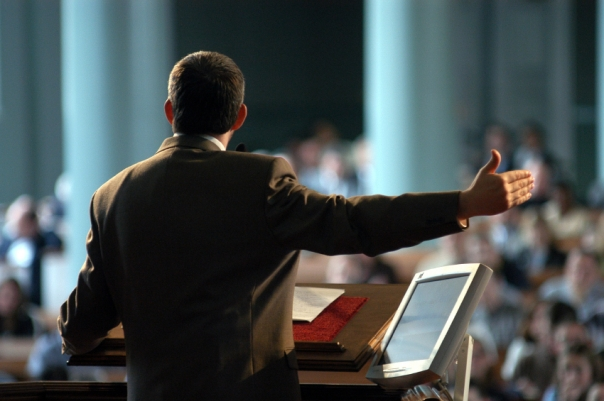 Preaching from behind